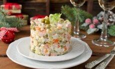 6 salotos ir mišrainės Naujųjų metų sutikimui