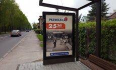 Paroda autobusų stotelėse
