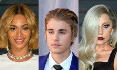 Beyonce, Justinas Bieberis, Lady Gaga