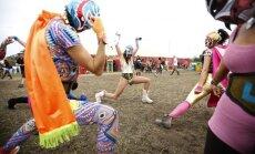Glastonbury festivalio akimirka