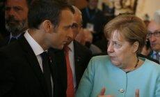 Emmanuelis Macronas ir Angela Merkel