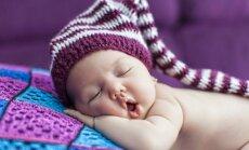 vaikas, kūdikis, naujagimis, miegas, kepurė