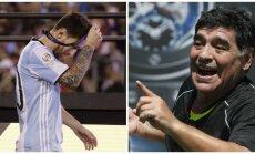 Lionelis Messi ir Diego Armando Maradona (AFP, AP nuotr.)