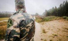Lithuanian border guard at the border