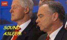 Billas Clintonas miega?