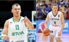 Šarūnas Jasikevičius ir Arnas Velička (DELFI ir FIBA nuotr.)