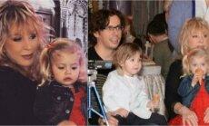 Ala Pugačiova ir Maksimas Galkinas su vaikais