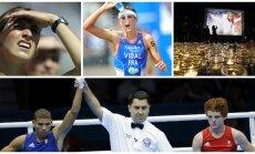 Julija Balykina, Camille Muffat, Laurentas Vidalis ir Billy Wardas (AP ir AFP nuotr.)