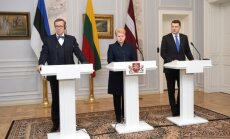 Baltic Presidents Toomas Hendrik Ilves, Dalia Grybauskaitė, Raimunds Vejuonis