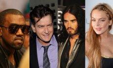 Kanye Westas, Charlie Sheenas, Russelas Brandas, Lindsay Lohan