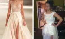 Internetinėje parduotuvėje reklamuota suknelė ir įsigyta prekė