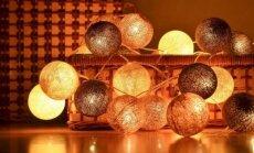 Ne tik ant lentynos: kūrybiškas lempučių girliandų pritaikymas namuose