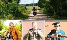 M. Jankavičius ir Ž. Naujokas keliauja po Lietuvą motociklais