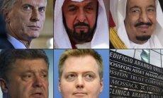 Mauricio Macri, Khalifa bin Zayedas al-Nahayanas, Salmanas bin Abdulazizas, Petro Porošenka, Sigmunduras Davidas Gunnlaugssas