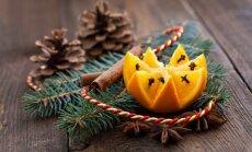 Įkvėpimui: eglutės papuošimai iš citrusinių vaisių