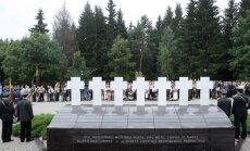 Medininkų žudynių minėjimas Medininkų memoriale