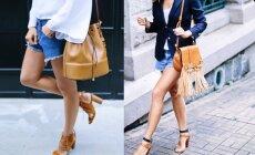Idėjos, kaip stilingai mūvėti džinsinius šortus