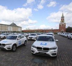 BMW automobiliai šalia Kremliaus