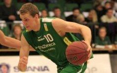 Švedijos krepšinio lygoje – galingas M. Griškėno dvigubas dublis