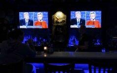Pirmieji D. Trumpo ir H. Clinton televizijos debatai sumušė žiūrimumo rekordą