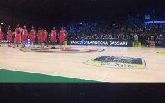 Italijos krepšinio taurės ketvirtfinalyje D. Loganas nedebiutavo, pergalę šventė Sasario ekipa