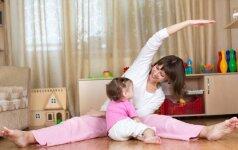 Mankšta po gimdymo: rekomenduojami pratimai