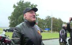 A. Lukašenka vadovavo baikerių paradui Minske
