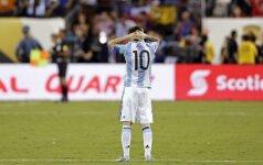 Smūgis futbolui: L. Messi baigė karjerą Argentinos rinktinėje