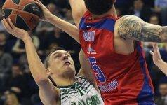 """""""Žalgiris"""" prieš CSKA laimėjo du kėlinius, bet šansų neturėjo"""