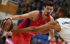 """N. de Colo vedama CSKA patiesė """"Brose"""", """"Fenerbahče"""" sutriuškino """"Pao"""""""