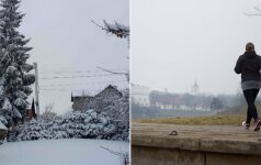 Nesupranta, kas vyksta: miesto pakraštyje gili žiema, centre – sniego lyg nebūta
