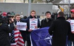 JAV prezidento D. Trumpo palaikymo akcija Vilniuje