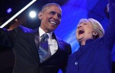 B. Obamos pagyros H. Clinton: nei aš, nei B. Clintonas nebuvome tokie kvalifikuoti kaip ji