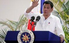 Dėl nesutarimų su R. Duterte atsistatydina Filipinų viceprezidentė