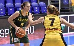 Lietuvos 18-metės Europos čempionato starte nusileido belgėms