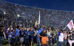 Per spūstis po rungtynių Hondūre žuvo keturi žmonės ir kūdikis