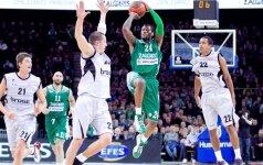 """""""Žalgiris"""" įveikė """"Brose Baskets"""" klubą ir šventė pirmą pergalę šio sezono Eurolygoje"""