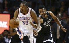 """""""Heat"""" krepšininkai namuose nesulaikė K. Duranto ir R. Westrbooko tandemo"""