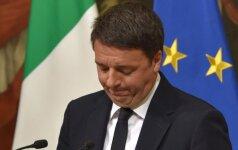 Italija: M. Renzis atsistatydino iš partijos vadovų