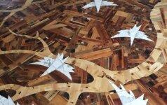 Darau pats: grindų sprendimas iš atsitiktinių medienos gabalų