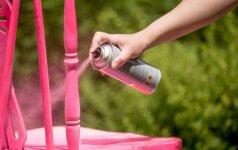 Patarimai, kaip nudažyti medinį baldą purškiamais dažais
