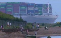 Į Anglijos uostą atplaukė didžiausias pasaulyje konteinerinis laivas