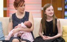 Žaibiško gimdymo pribuvėja tapo namuose buvusi mergaitė