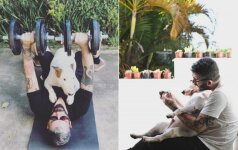 Po skyrybų vyras liko vienas su šunimi, bet nepalūžo: kartu rado būdą atsitiesti