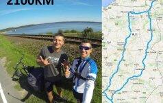 Dviračiais Slovakiją apvažiavę lietuviai džiaugiasi, kad nesutiko meškų