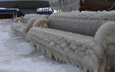 Kerintys Kuršių nerijos vaizdai: žiema dovanoja nuostabų peizažą