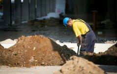 40 proc. apklaustų įmonių vadovų sakė, kad statybos darbų padaugėjo