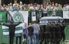 """""""Chapecoense"""" komandos pagerbimas Brazilijoje"""