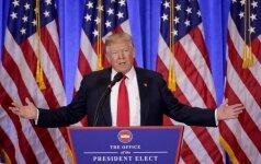 D. Trumpo reitingas prieš inauguraciją - rekordiškai žemas