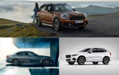 Mini Countryman, BMW 5, Volvo XC60
